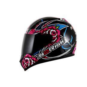 Capacete-Norisk-FF391-Roses-Black-Pink