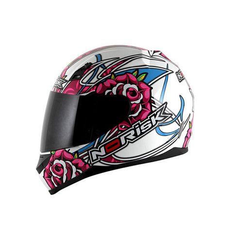Capacete-Norisk-FF391-Roses-White-Pink