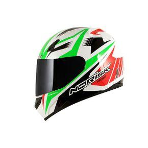 Capacete-Norisk-FF391-Slide-White-Green-Red
