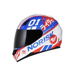 Capacete-Norisk-FF391-Tokyo-Matt-White-Red-Blue