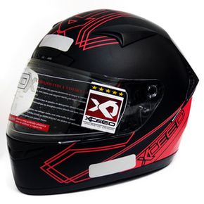 Capacete-Xceed-Sprint-3-Gti-Black-Red-Matte