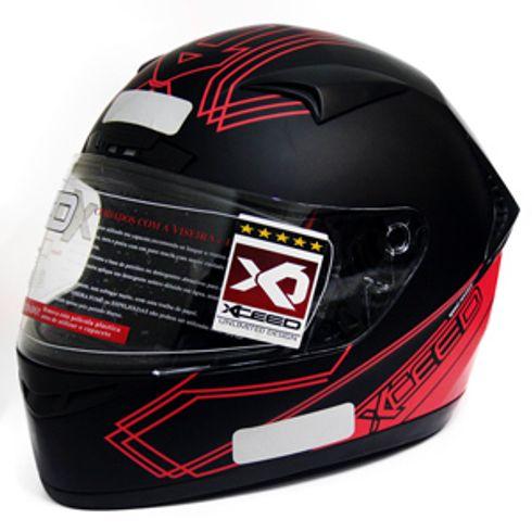Capacete-Xceed-Sprint-3-Gti-Black-Red-Matte