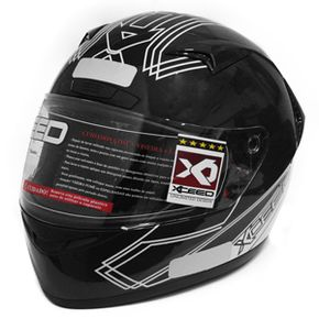 Capacete-Xceed-Sprint-3-Gti-White-Black-