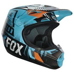 Capacete-Fox-V1-Youth-Vicious-Aqua-