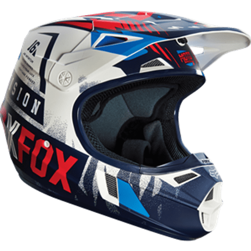 Capacete-Fox-V1-Youth-Vicious-Blue-White