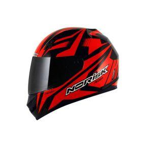 Capacete-Norisk-FF391-Slide-Black-Red