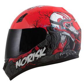 Capacete-Norisk-FF391-Wolf-Red-Black