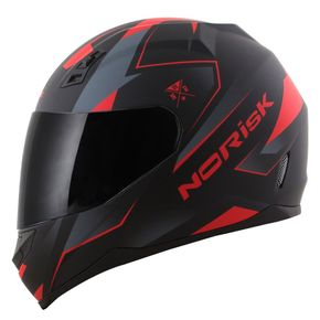 Capacete-Norisk-FF391-Stripes-Matt-Black-Grey-Red-1