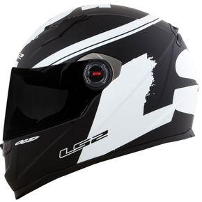 Capacete-LS2-FF358-Fluo-Matt-Black-White-1