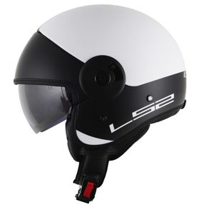 Capacete-LS2-OF597-Cabrio-Via-Matt-White-Black-1