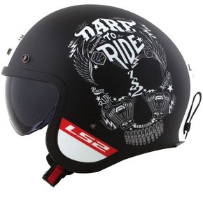 Capacete-LS2-OF599-Spitfire-Inky-Matt-Black-White-1