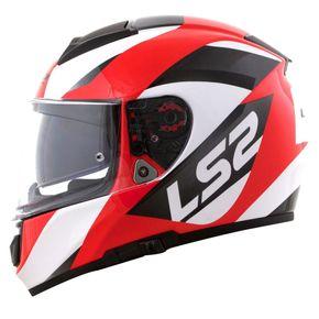 Capacete-LS2-Vector-Wavy-Black-White-Red-1