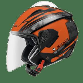 Capacete-Zeus-205-AQ1-Matt-Black-Orange-1