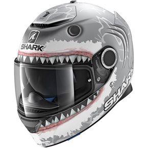 Capacete-Shark-Spartan-Lorenzo-SWA-Cinza-Branco-Fosco-1