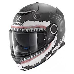 Capacete-Shark-Spartan-Lorenzo-KWA-Fosco-Preto-Cinza-Branco-1