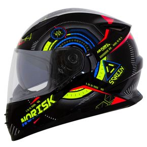 Capacete-Norisk-FF302-Screen-Black-Green-Fluo-Blue-1