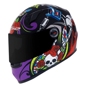Capacete-LS2-FF358-Pigment-Matt-Black-Violet-1