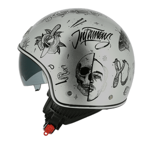 Capacete-Astone-Minijet-66-Flash-Tattoo-Silver-1