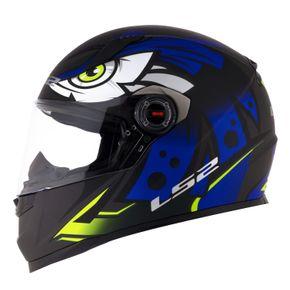 Capacete-LS2-FF358-Tribal-Matt-Black-Blue-1